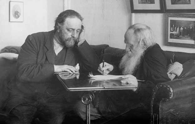 Л.Н. Толстой и В.Г. Чертков